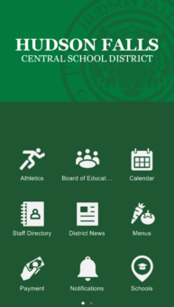 graphic shows mock up of hfcsd app on smartphone