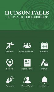 Screenshot of HFCSD phone app