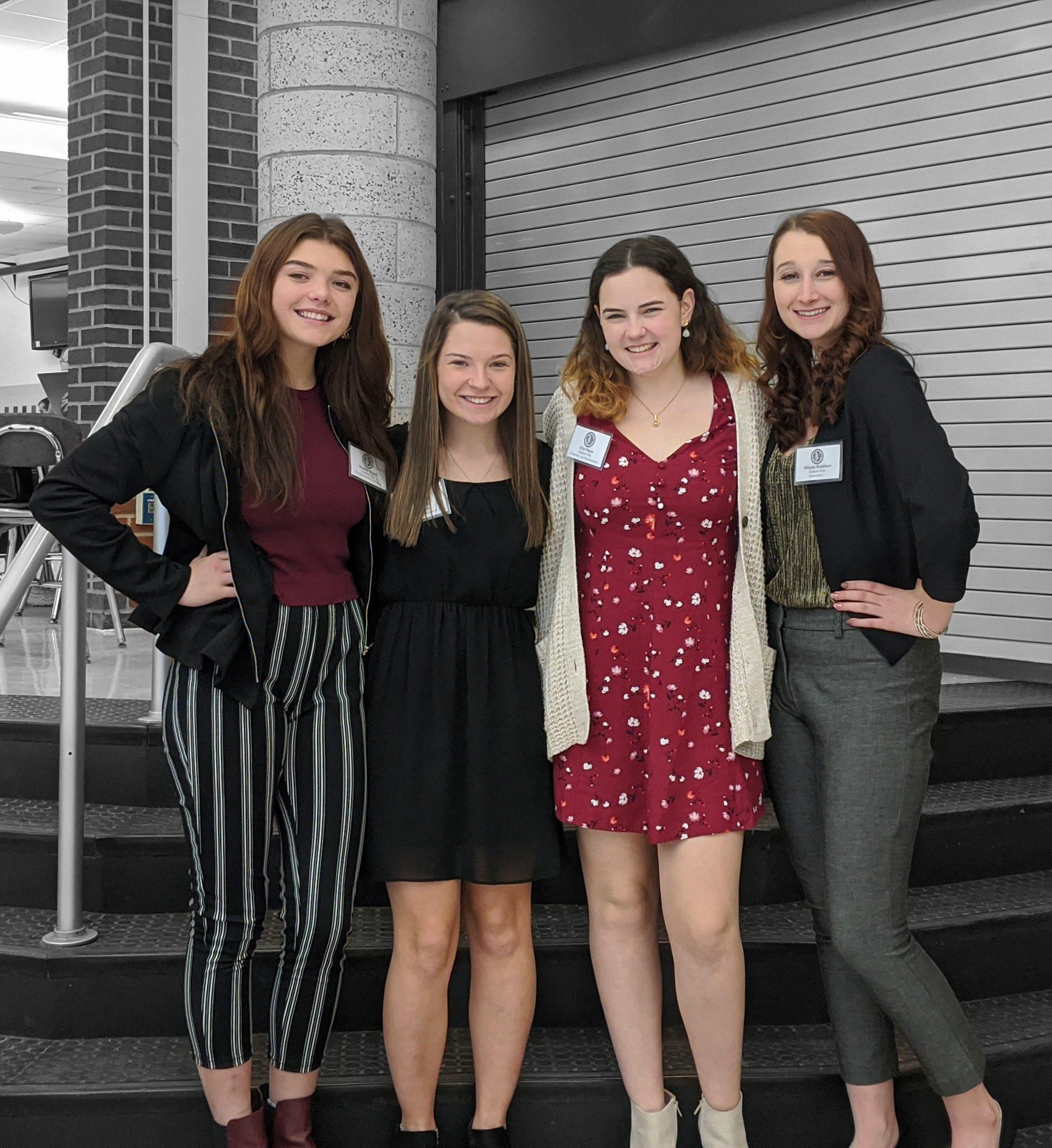 Four GHS Senior girls smile for a photo