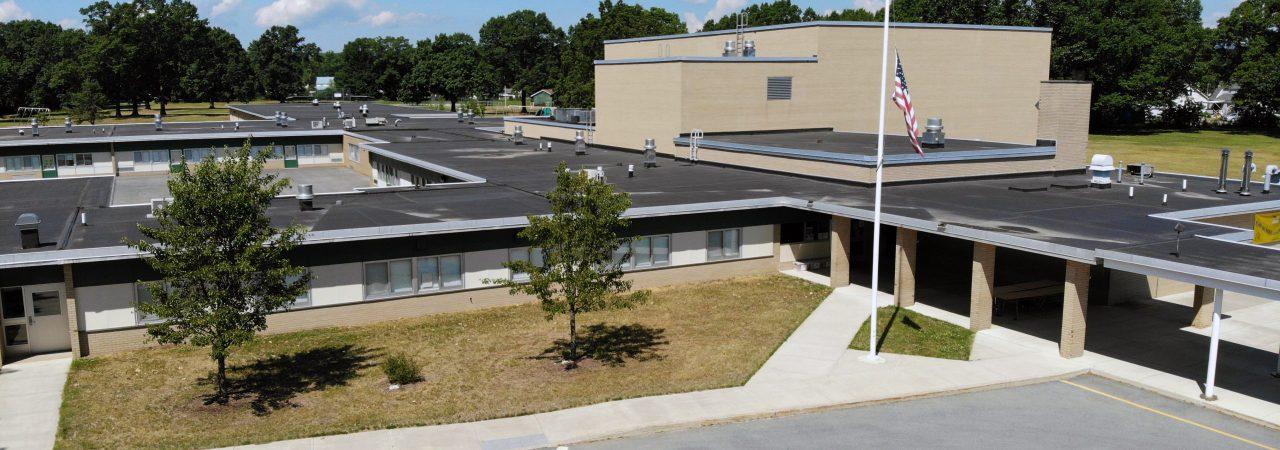 Aerial shot of Primary School