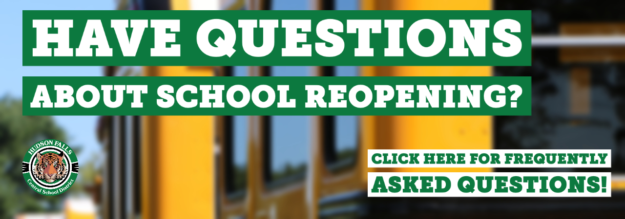 """photo shows school buses with """"have questions"""" written on them"""