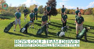 photo shows boys with golf bags