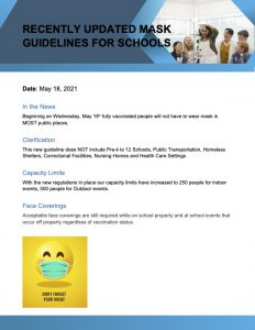 Recently Updated Mask Guidelines for Schools