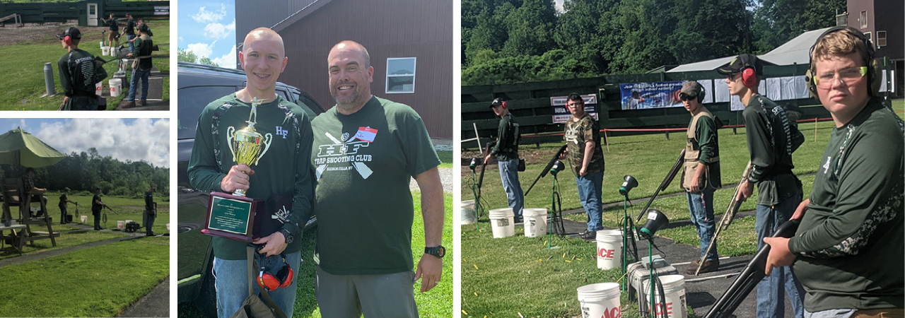 photo shows trap shooting team participating in tournament